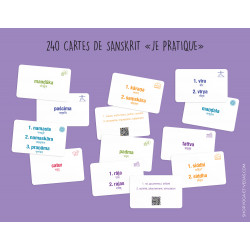 "240 cartes de sanskrit ""je pratique"""