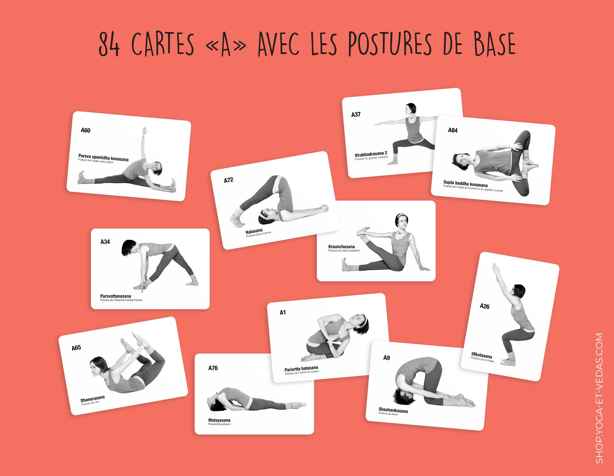 336 cartes de yoga - Cartes A - Shop Yoga&Vedas