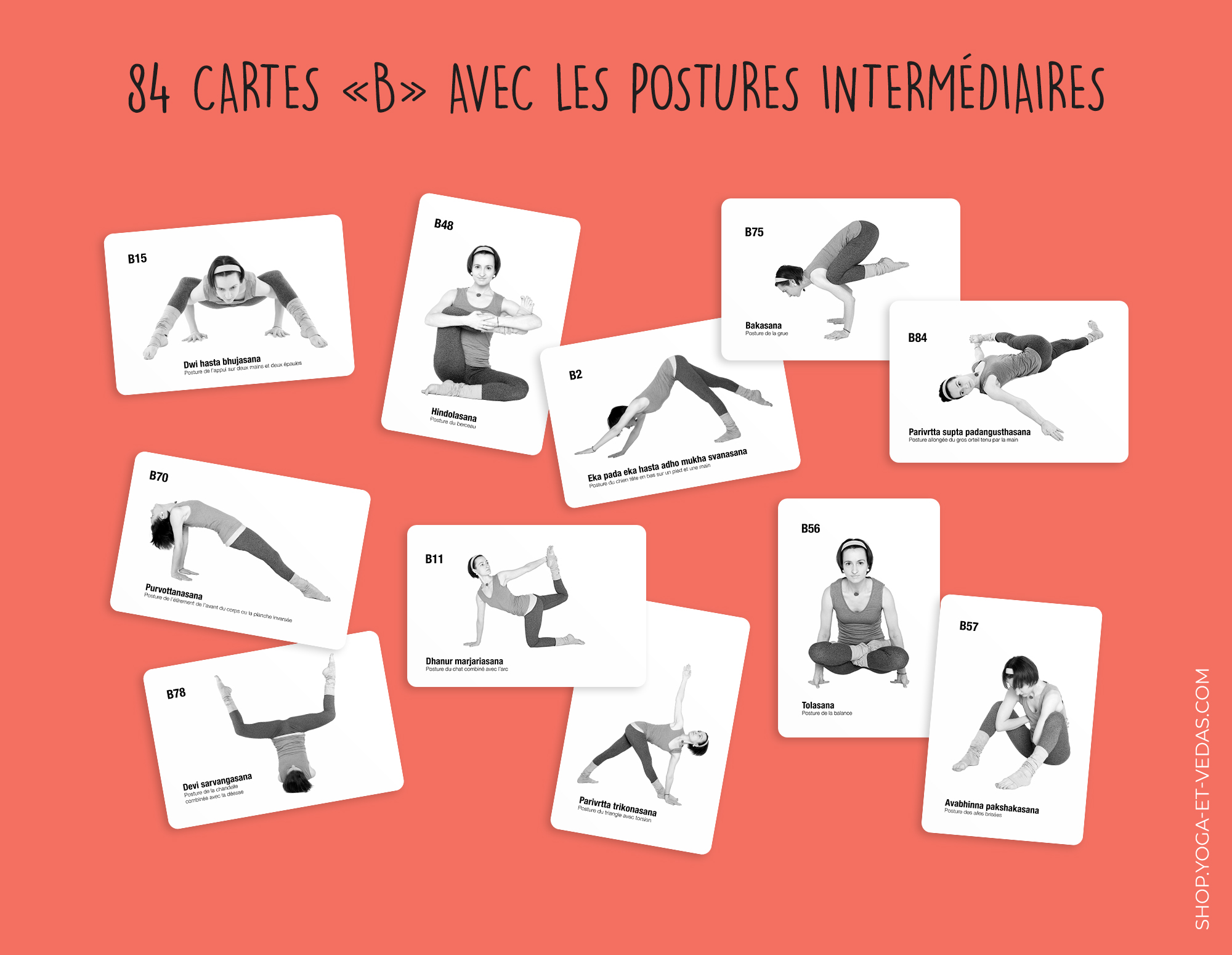 336 cartes de yoga - Cartes B - Shop Yoga&Vedas