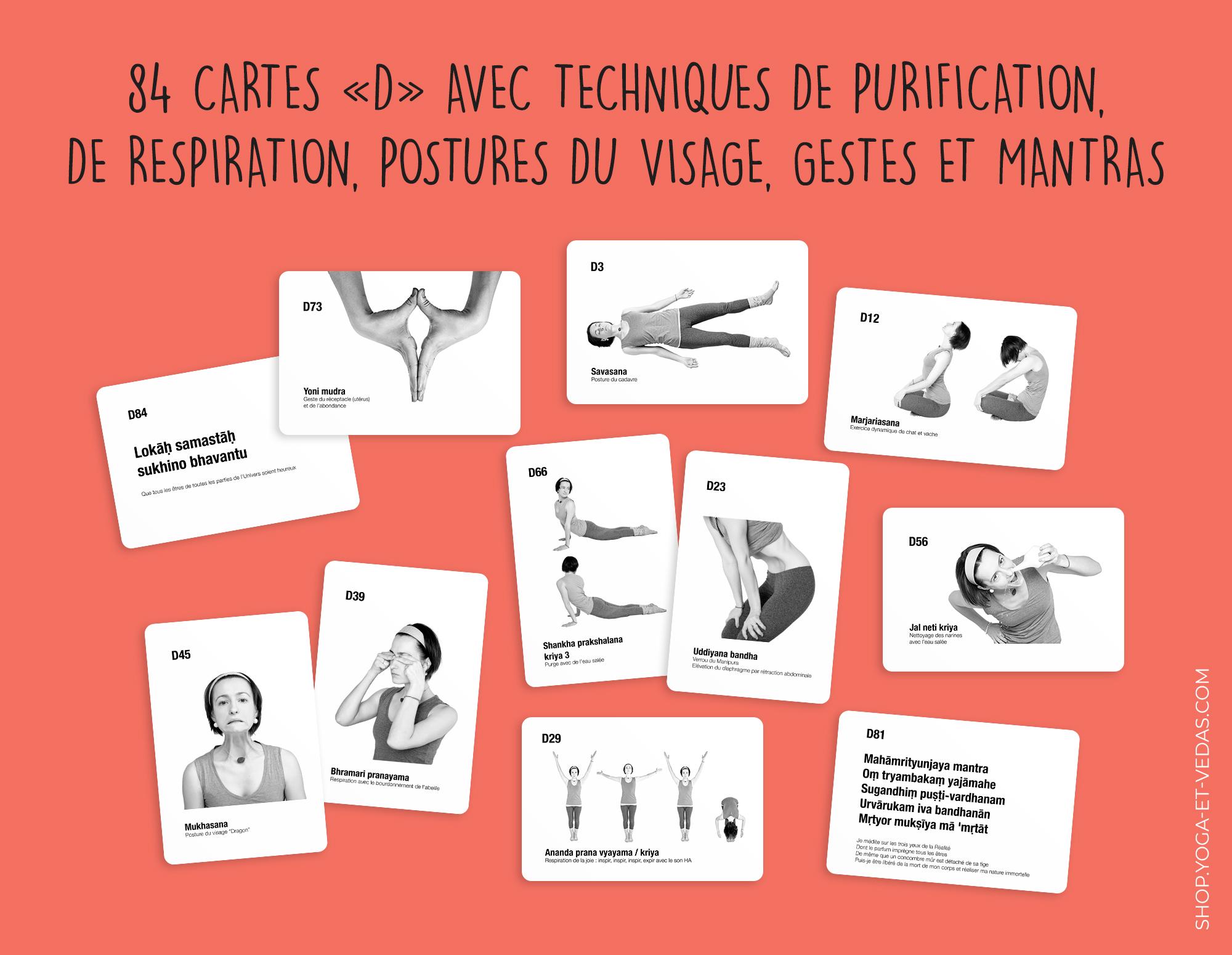 336 cartes de yoga - Cartes D - Shop Yoga&Vedas