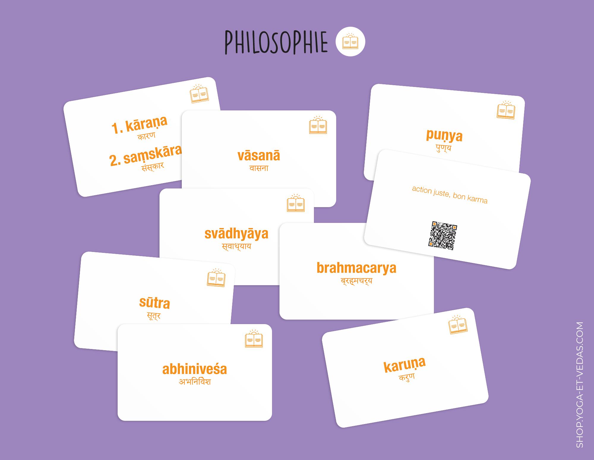 240 cartes de Sanskrit - Philosophie - Shop Yoga&Vedas