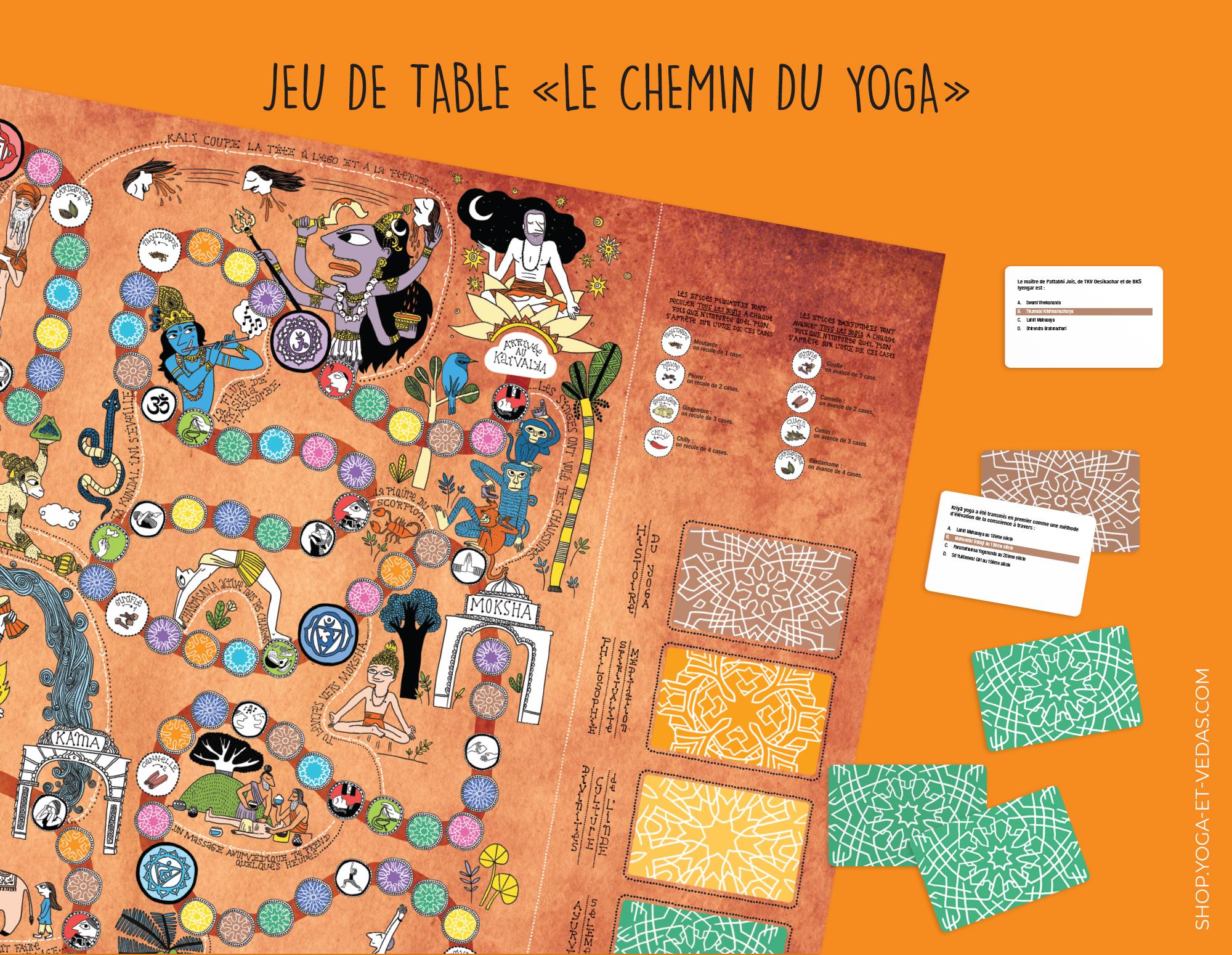 Board game Chemin du Yoga - Shop Yoga&Vedas