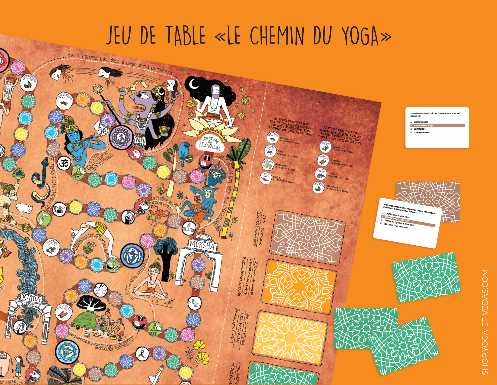 Jeu Chemin du Yoga - Shop Yoga&Vedas