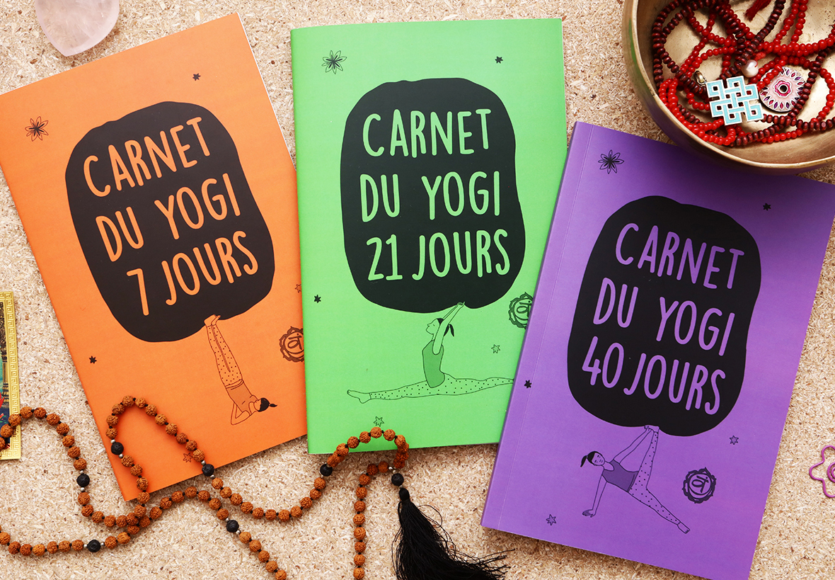 Yogi's diaries for 7, 21 and 40 days / 6-8€ (Available only in French)